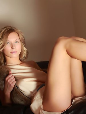 Undressing on a sofa